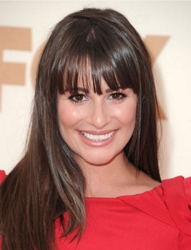 Lea Michelle With Long Shiny Brunette Hair