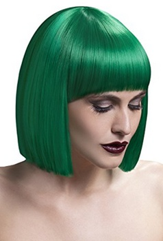"Green Hair - Fever Women's Lola Wig 12"" 30 Cm Blunt Cut Bob with Fringe - Amazon.com - All Rights Reserved"