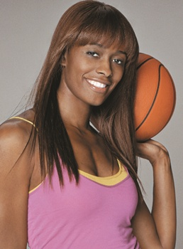 Image of Swin Cash - Paul Mitchell Super Strong Products - Courtesy of Paul Mitchell - All Rights Reserved