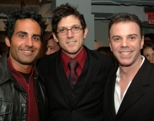 Angelo David, Mark Garrison and Rudy Sprogis, founder of b*cause