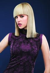 Shoulder Length Platinum Blonde Bob