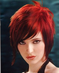 Chin Length Layered Red Hair