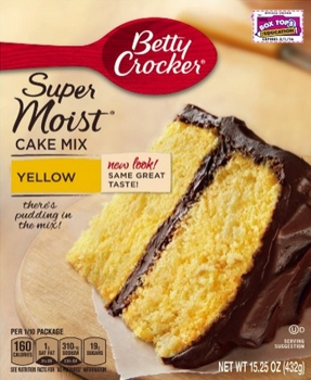 Betty Crocker Supermoist Cake Mix, Yellow, 15.25-Ounce - Amazon.com