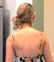 Holly Montag Cute Messy Stacked Ponytail
