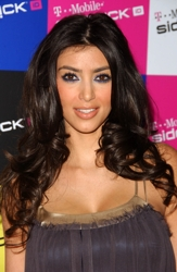 Kim Kardashian with Center Part And Waves