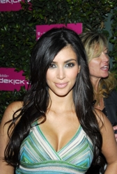 Kim Kardashian With Side Swept Fringe