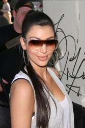 Kim Kardashian With Long Ponytail