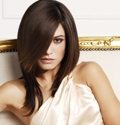 Long Brunette Straight Hair