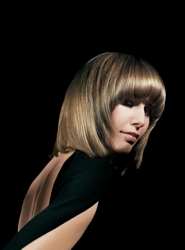 Shoulder Length Bob With Highlights And Lowlights