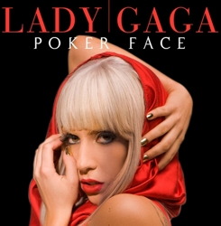 Lady Gaga On Cover Of Poker Face Album With Platinum Blonde Hair