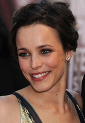 Rachel McAdams With Light Brown Tressed Updo
