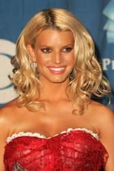 Jessica Simpson With Blonde Beachy Waves