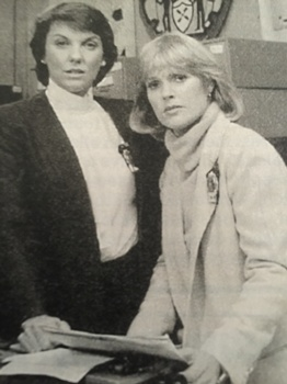 Actress Tyne Daly With Sharon Gless (L-R) - Cagney And Lacey - March 25, 1982 to May 16, 1988 - CBS - All Rights Reserved