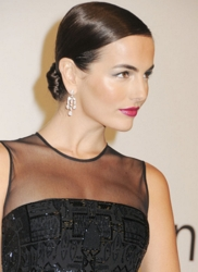 Camilla Belle Sleek Polished Chignon Red Carpet Hairstyle