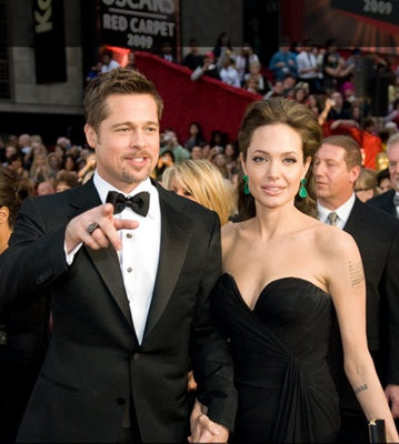Angelina Jolie With Brad Pitt At Academy Awards - 2009 - Credit: www.oscars.org - All Rights Reserved