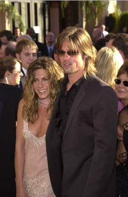 Brad Pitt With Jennifer Aniston - Jennifer Aniston & Brad Pitt September 2002 - The 54th Annual Primetime Emmy Awards DailyCeleb.com - All Rights Reserved