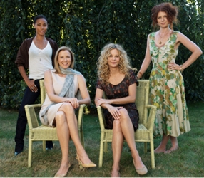 """Lorraine Massey's Views On Straightening Naturally Curly Hair - Image of Meg Ryan as curly haired Mary in """"The Women"""" with Jada Pinkett, Annette Benning and Debra Messing - Courtesy of Warner Brothers - All rights Reserved"""
