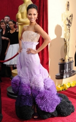 Zoe Saldana At 2010 Academy Awards