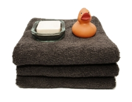 Stack of thick lush towels for spa - HB Media - All rights Reserved