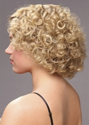 Long Blonde Tightly Curled Hair
