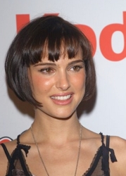 Natalie Portman With Signature Bobbed Hairstyle