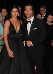 Matthew McConaughey & Wife Camila Alves 71st Annual Golden Globe Awards - Press Room The Beverly Hilton Hotel / Los Angeles, CA, USA 01/12/2014  Photographer: Andrew Evans / PR Photo