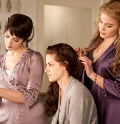 Ashley Greene Breaking Dawn Hair Styling Scene
