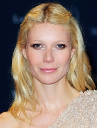 Gwyneth Paltrow With Uneven Center Part
