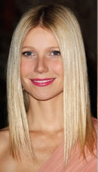 Gwyneth Paltrow With Center Part