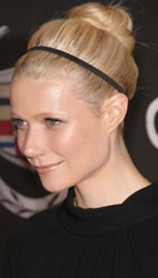 Gwyneth Paltrow With No Part And Top Knot