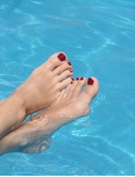 Feet which have received a pedicure - HB Media - All Rights Reserved