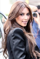 Kim Kardashian Comes Out Of Hair Darkness Into The Light