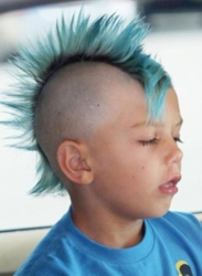 Kingston Rossdale Blue Mohawk Hairstyle Controversy Hairboutique