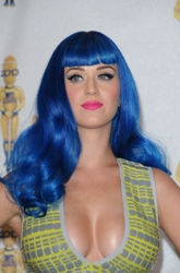 Katy Perry With Vibrant Blue Hair