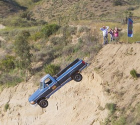 Truck Off Cliff From 101 Ways To Leave A Game Show