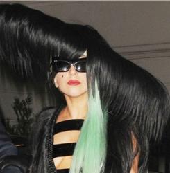 Lady Gaga Hair Hat, Hair Dress And Green Wig