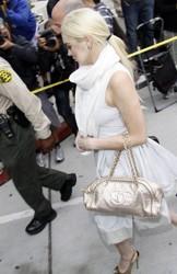 Lindsay Lohan Blonde Ponytail