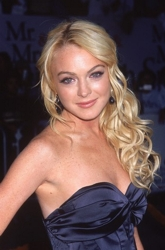 Lindsay Lohan Long Curled White Chocolate Ringlets