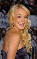 Lindsay Lohan Side View Of Long Curls