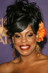 Niecy Nash With Orange Hair Flower