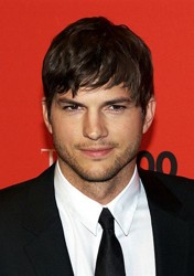 Ashton Kutcher With Combdown Fringe