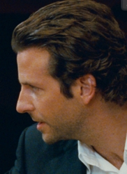 Bradley Cooper With Long Sideburns And Layered Sides
