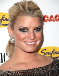 Jessica Simpson With Hair Pulled Back Off Face