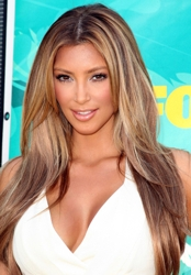 Kim Kardashian With Light Blonde Tresses