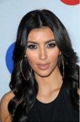 Kim Kardashian With Long Raven Black Hair