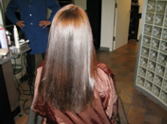 Salon Hair Client After Rusk Hair Care Treatment