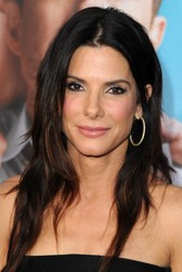 Sandra Bullock With Off Center Part And Soft Waves
