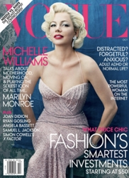Vogue Cover For Oct 2011 With Michelle Williams As Marilyn Monroe