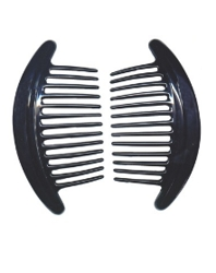 Interlocking Combs In Black at HairBoutique.com