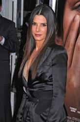 Sandra Bullock With Long Bone Straight Strands